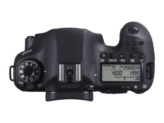 Toppen av Canon EOS 6D.