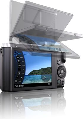 Casio Exilim EX-ZR1000 med vridbar skjerm.