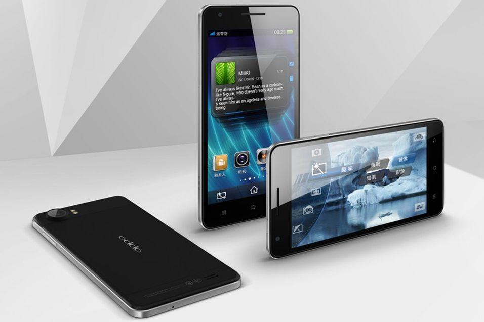 Foreløpig har ikke Oppo vist frem bilder av Find 5. Dette er verdens tynneste mobiltelefon, Oppo Finder. Den er 6,65 millimeter tykk.