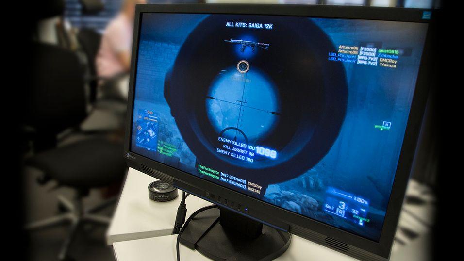Selv om Eizo-skjermen er utstyrt med en IPS-skjerm har den svært god responstid.