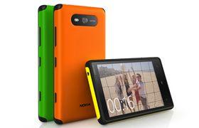 """Slik ser Nokias """"Active Shell"""" for Lumia 820 ut. Det er sterkere, litt tykkere og gummiert langs kantene."""