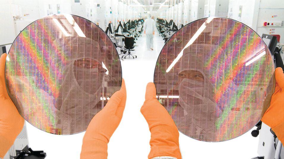 Illustrasjonsbilde: Dagens 28 nm-produksjon hos Globalfoundries
