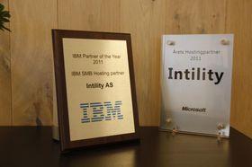 Intility ble kåret årets hostingpartner både hos IBM og Microsoft i 2011.