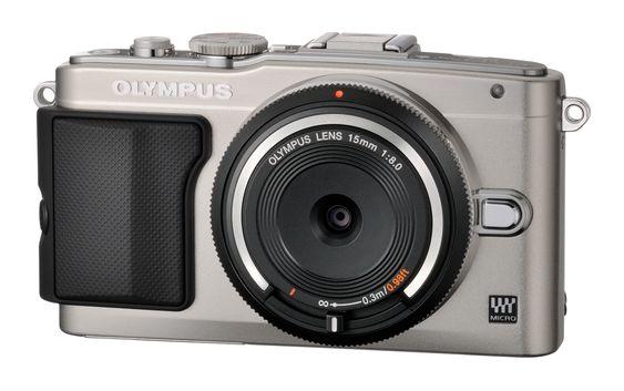 Olympus BCL-1580 påmontert et kamera.