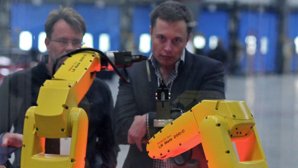 Elon Musk hos Tesla Motors.