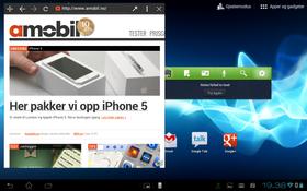 Du kan åpne et nettleservindu som flyter som et eget vindu på toppen av det vanlige Android-grensesnittet. .