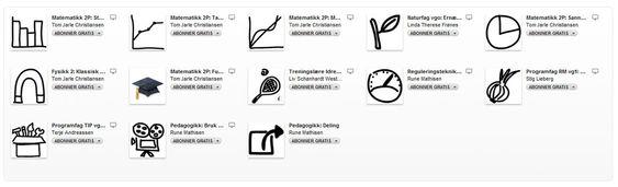 Dette er kursene som Telemark Fylkeskommune tilbyr via iTunes U.