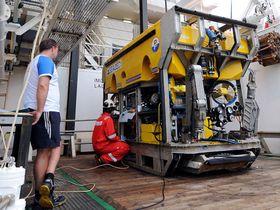 ARBEIDSVERKTØY: En ROV undersøkels om bord på det norske fartøyet Seabed Worker.