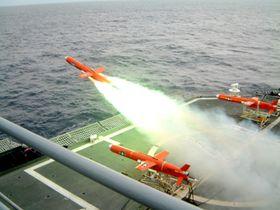 DEN GAMLE TYPEN: Missilet BQM-74 Chukar har blitt brukt siden 60-tallet. I 1978 ble den utstyrt med en autopilot som kunne programmeres til å gjøre sofistikerte flymanøvre.
