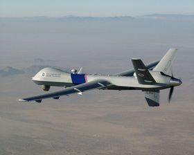 BRUKES MOT PIRATER: MQ-9 Reaper er en overvåkings- og angrepsdrone som blant annet har blitt brukt mot pirater utenfor Somalia.