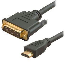 Liten HDMI og stor DVI.