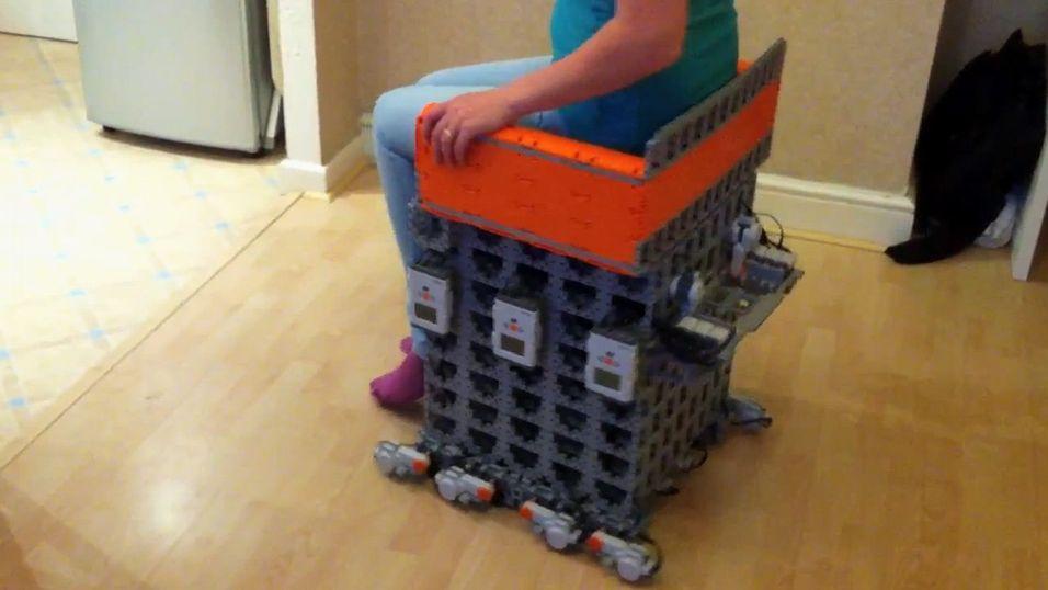 Skjermbilde fra demonstrasjonen av Lego-rullestolen.