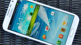 Samsung Galaxy Note 2 har lavest SAR-verdi i vår oversikt.