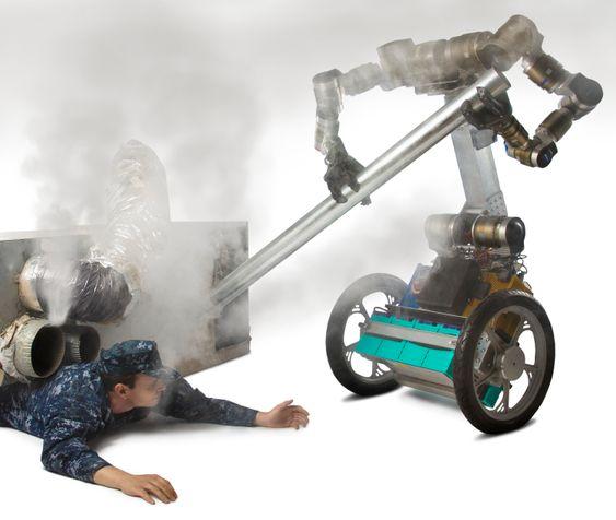 MacGyver-roboten hjelper til.
