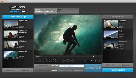 Slik ser programvaren til GoPro ut.