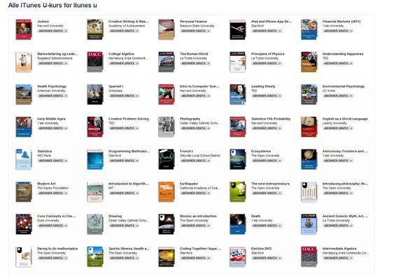 iTunes U får du til iPhone og iPad.