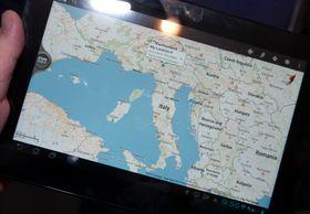 Google maps flytter seg fint fra telefon til nettbrett.