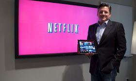 Ted Sarandos er innholdsansvarlig hos Netflix, og hadde mye å si om utdaterte distribusjonsmodeller og selskapets egne visjoner.