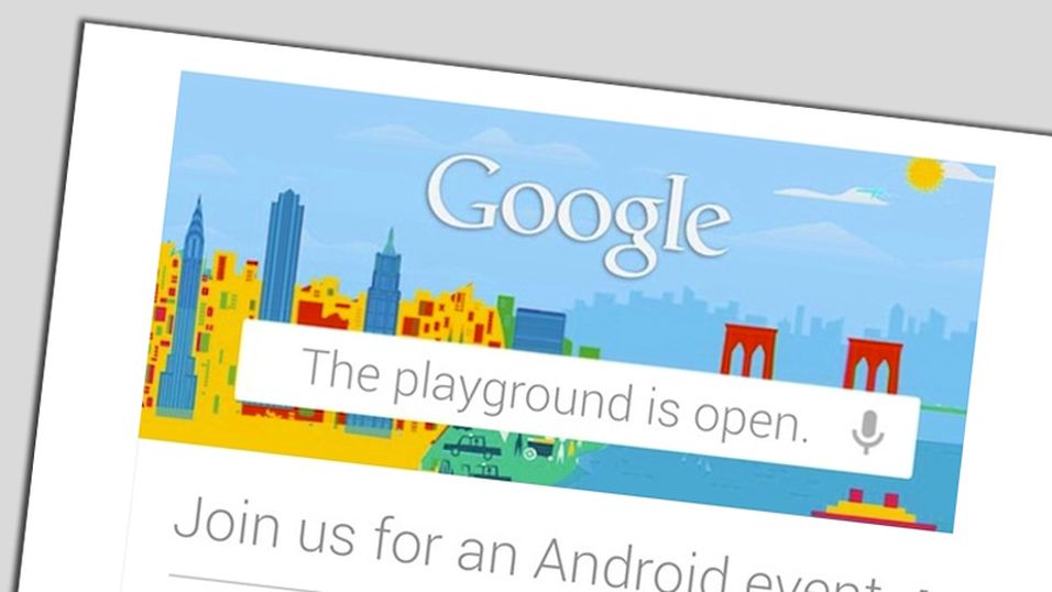 Google lanserer  noe  den 29. oktober