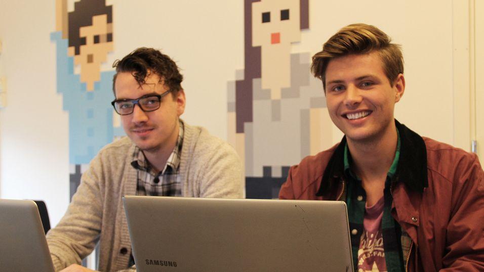 Sean Asbjørnsen og Erik Rydning studerer hhv mobil apputvikling og digital markedsføring.