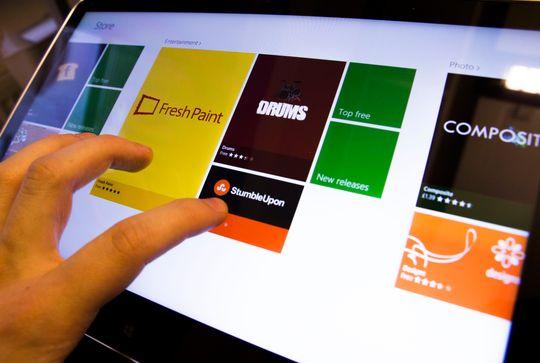 Applikasjonsbutikken er oversiktlig og lett å navigere seg rundt i, spesielt hvis du bruker fingeren.