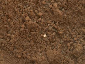 Denne hvite flekken er faktisk en naturlig del av Mars, og ikke rester fra NASA-ekspedisjonen.