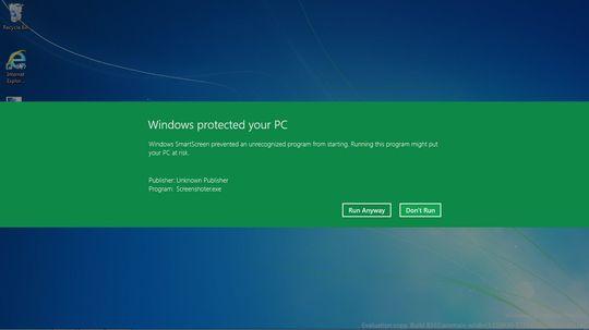I stedet for å varsle deg hver gang du prøver å installere et program du lastet ned fra nettet, vil Smart Screen bare varsle deg hvis den ikke kjenner igjen programmet du vil installere.