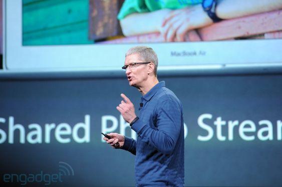 Apple-sjef Tim Cook fra Apple-lanseringen.