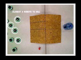 Oversiktsbildet fra dronen gir robotene større romforståelse.