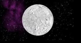 En asteroide dekket av maling endrer albedoen og forskyver banen.