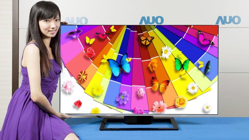 AUO har utviklet en energieffektiv 65 tommer stor 4K-TV. Her ser vi en 55 tommers 4K-TV, som kan friste med slank ramme og frisk fargegjengivelse.