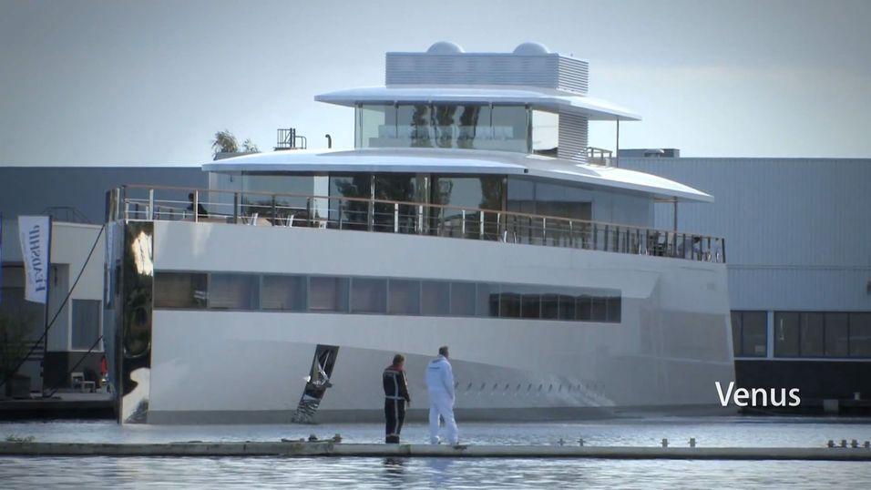 Yachten Venus ble vist fram i den nederlandske havnen Aalsmeer i helgen.