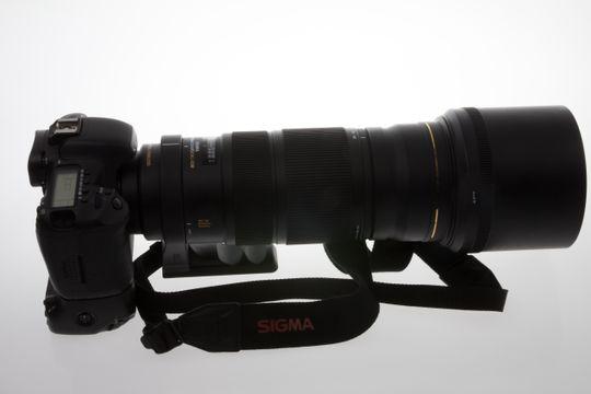 Sigma 120 - 300 montert på Canon EOS 7D.