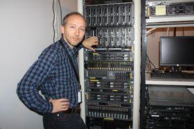 Mats Eilertsen i maskinrommet.