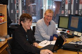 Jostein Lund (tv)og Stein Meisingseth er høgskolelektorer ved driftsstudiet.