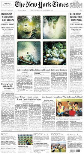 New York Times brukte bilder tatt med Hipstamatic på sin forside, i november 2010.