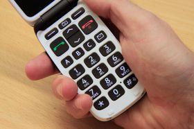 Det er hurtigtaster for å ringe de tre mest brukte telefonnummerne.