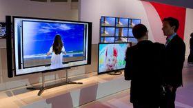 Stor skjerm med høy oppløsning.