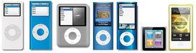 iPod Nano har hatt litt identitetskrise gjennom sju generasjoner.