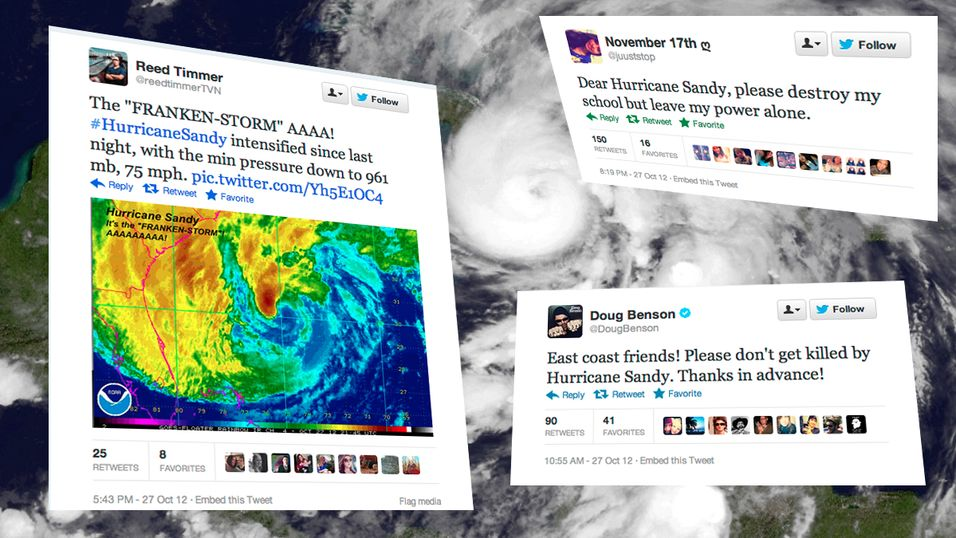 Orkanen Sandy ga rekordtall for Twitter