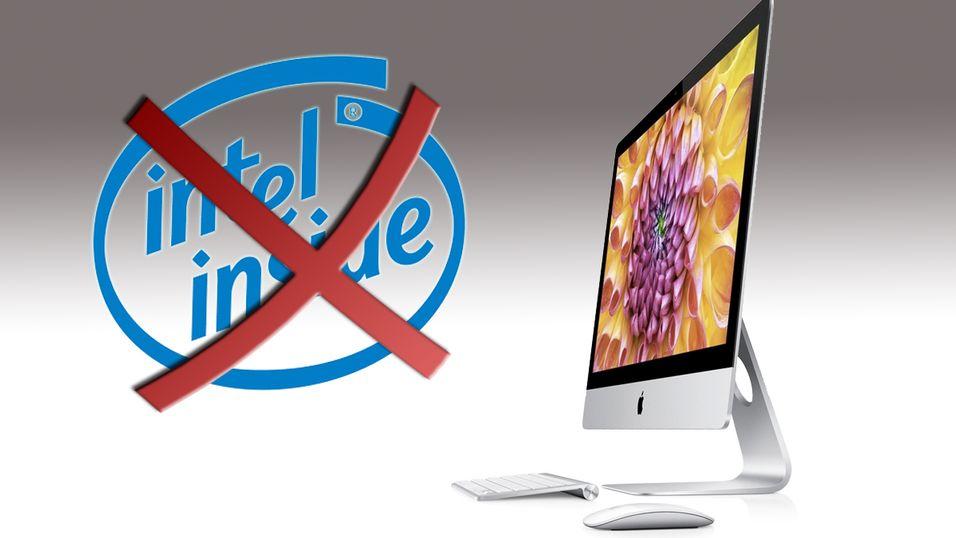 Apple vurderer å kutte ut Intel-prosessorer, ifølge rykter.