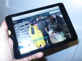 NRK Nett-TV kjører som en drøm på iPad mini.