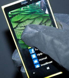 Berøringsskjermen i Lumia 920 er så følsom at den fungerer selv om du har på deg hansker.