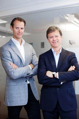 Jacob de Geer og Magnus Nilsson, grunnleggerne av det svenske mobilbetalingsselskapet iZettle.