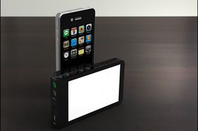Kick Light festes på iPhone.