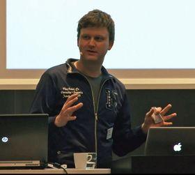 Erlend Mosland i Tyggo holdt foredrag på AppWorks.