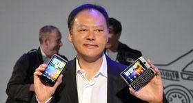 Peter Chou i HTC i forbindelse med en mobillansering for noen år tilbake.