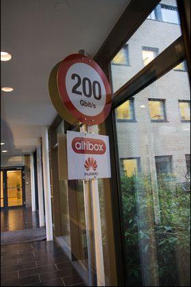 Kjenner du igjen denne? Altibox sto for bredbåndstilkoblingen til The Gathering 2012, og skrøt av rekordhøye hastigheter.