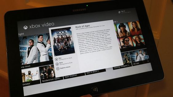 Alle nettbrett kan streame film og musikk. Dette brettet kan også streame via Xbox 360.