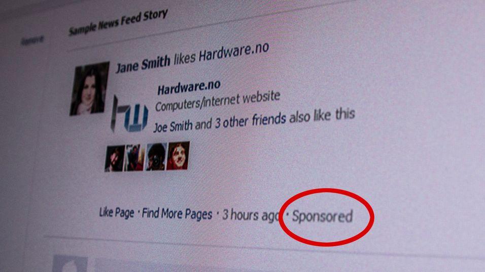 Illustrasjonsbilde: Slike sponsede annonser kan være ulovlig, ifølge nordiske forbrukerombud.